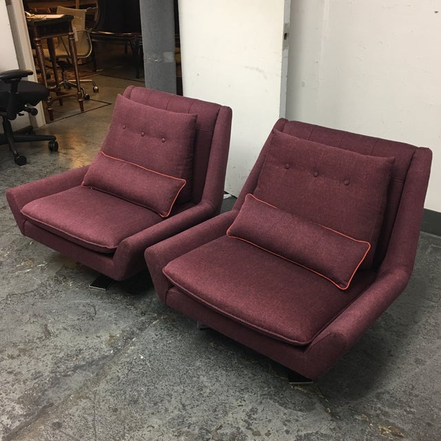 Contemporary Vioski Palm II Swivel Chairs - A Pair For Sale - Image 3 of 8