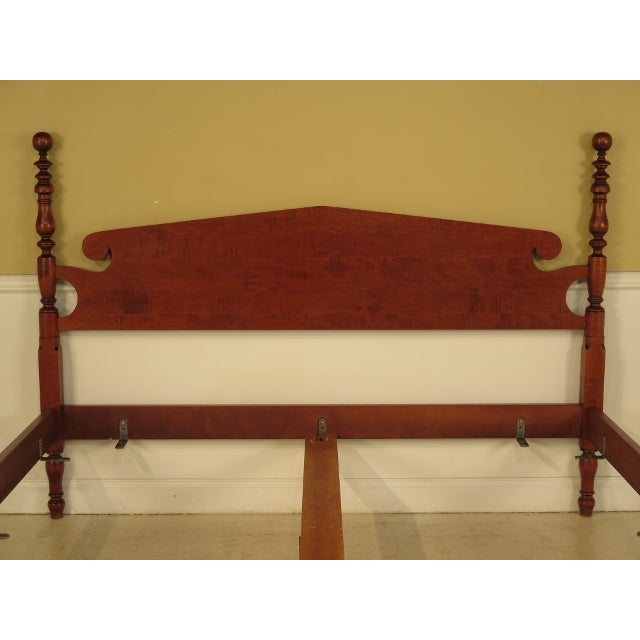 Country Eldred Wheeler King Cannonball Bed For Sale - Image 3 of 11