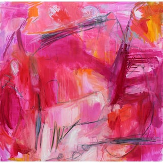 """""""Mardi Gras"""" by Trixie Pitts Large Abstract Expressionist Oil Painting For Sale"""
