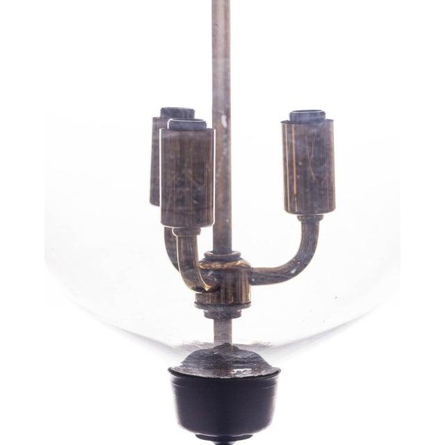 Vintage Glass Bell Jar Pendant Light For Sale - Image 4 of 8