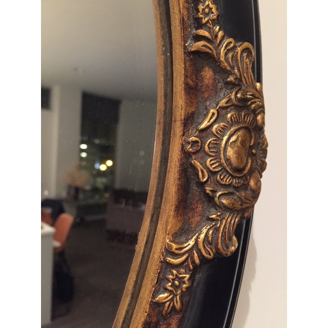 Beveled Black & Gilded Mirror - Image 8 of 8