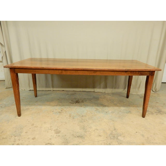 Early 19th C. French Walnut Farm Table For Sale In New Orleans - Image 6 of 8