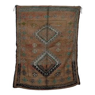 "Boujad Vintage Moroccan Rug, 5'11"" X 9'3"" For Sale"