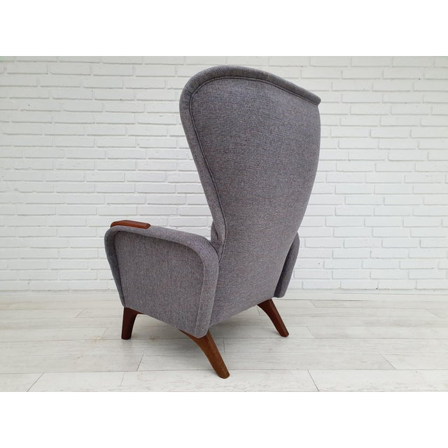 Mid-Century Modern 1970s Vintage Danish Lounge Chair For Sale - Image 3 of 13