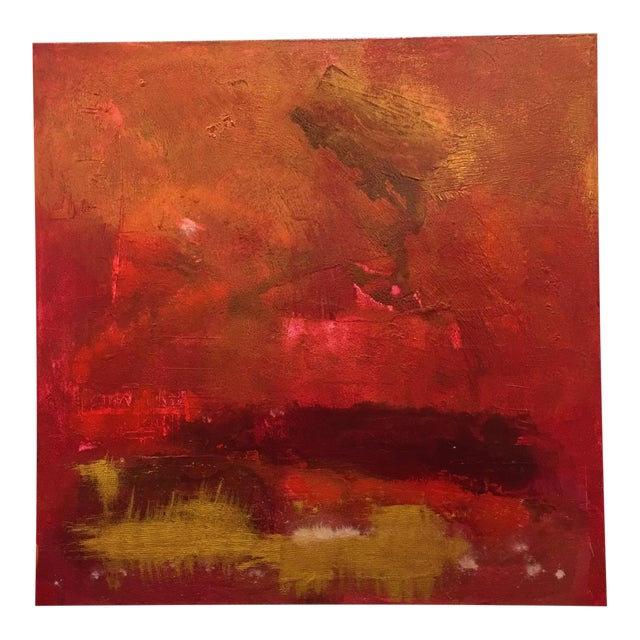 Firestorm Original Acrylic Abstract Painting For Sale