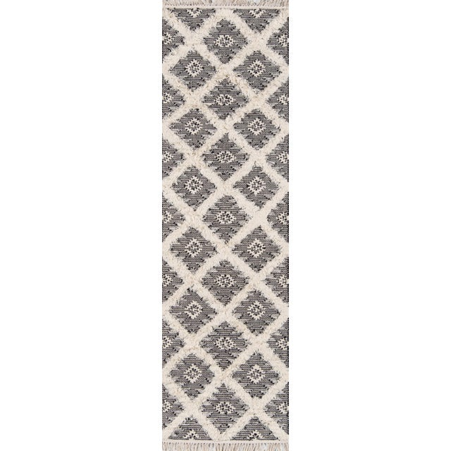"""2010s Harper Black Hand Woven Area Rug 7'6"""" X 9'6"""" For Sale - Image 5 of 8"""