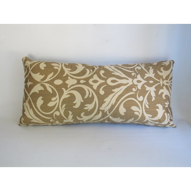 Gold Damask Bolster Pillow - Image 3 of 5