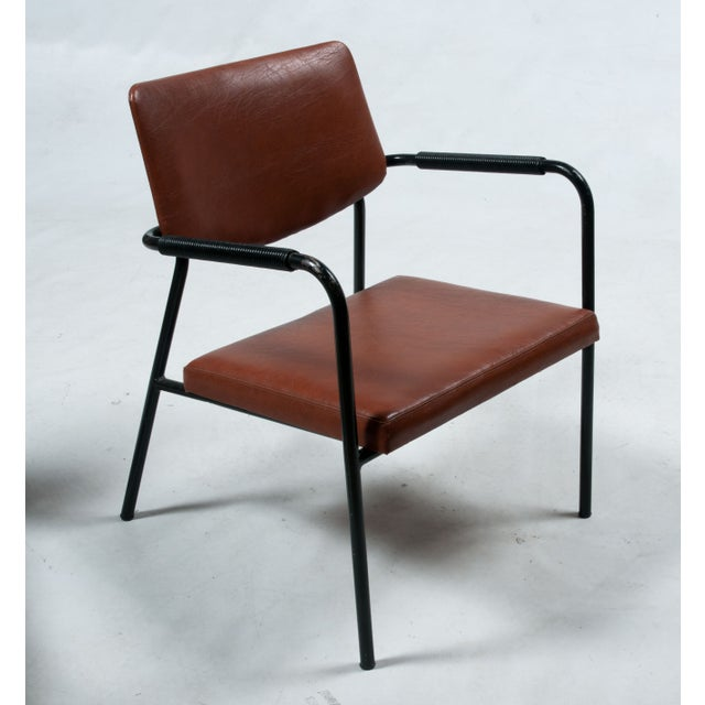 1950s Leather Armchairs - A Pair - Image 6 of 7