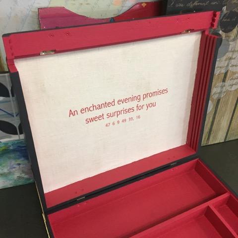 'Good Fortune' Vintage Refinished Artist Box - Image 6 of 10