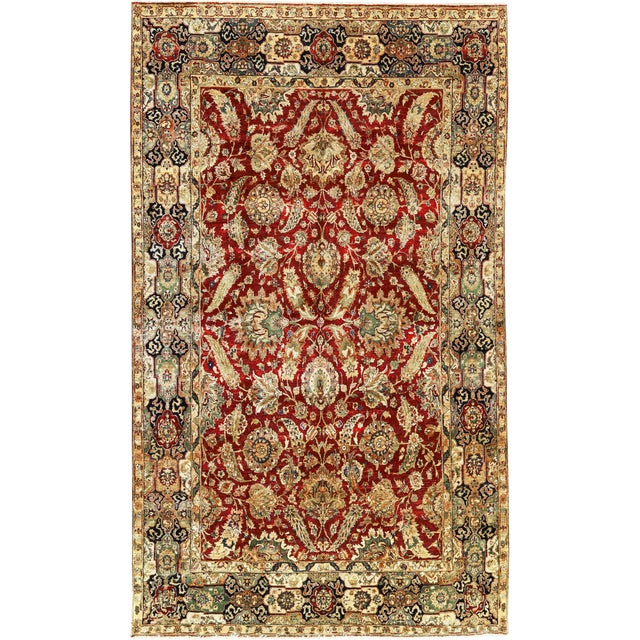 "Traditional Persian Hand Woven Wool Rug - 8'11"" X 15'1"" For Sale"