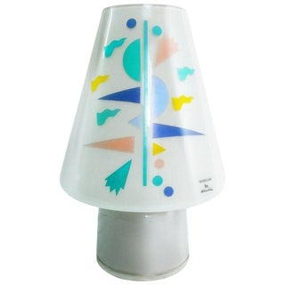 1990s Alessandro Mendini for Artemide Sidecar Postmodern Murano Glass Table Lamp For Sale