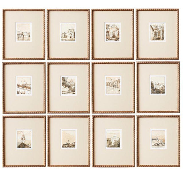 Set of Twelve Architectural Landscape Etchings by Kenneth Gregg For Sale - Image 13 of 13