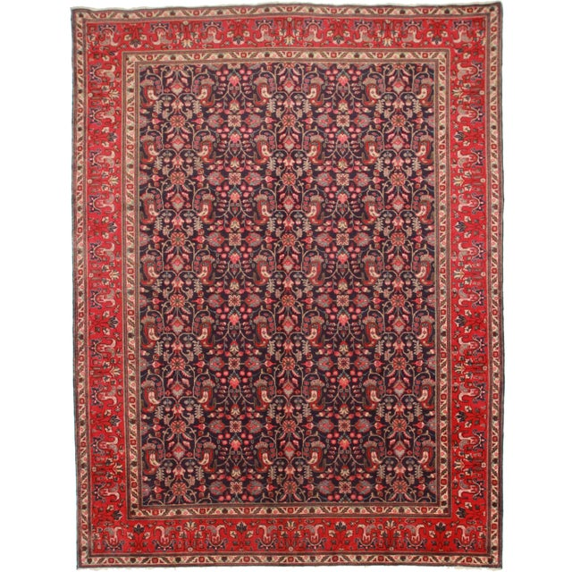 """Hand Knotted Wool Persian Tabriz Rug - 9'9"""" X 12'8 For Sale"""