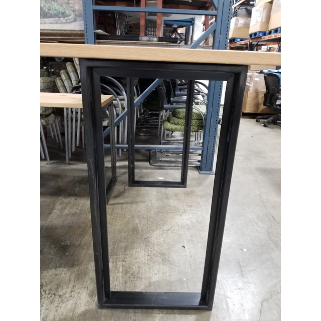 Industrial Industrial West Elm High Top Console Table For Sale - Image 3 of 5