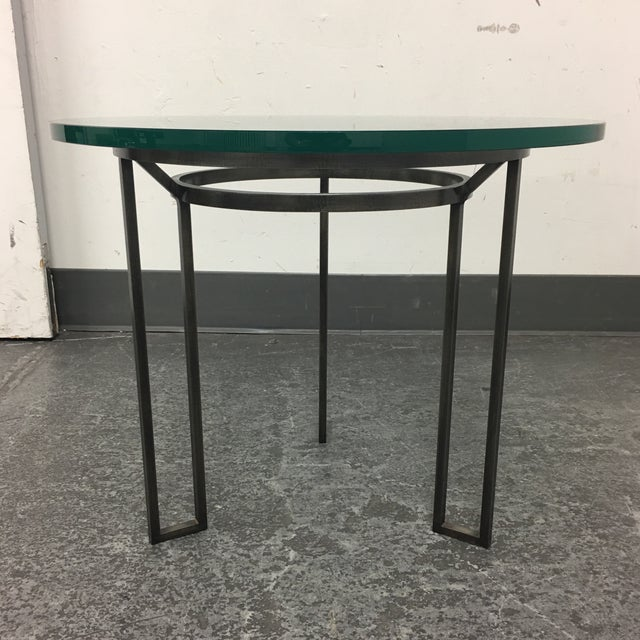 Iron Based Glass Top Side Table - Image 2 of 8