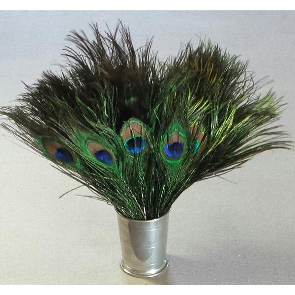 Abstract Peacock Feather Decor, 50 Piece For Sale - Image 3 of 5
