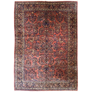 Antique Persian Sarouk Carpet For Sale