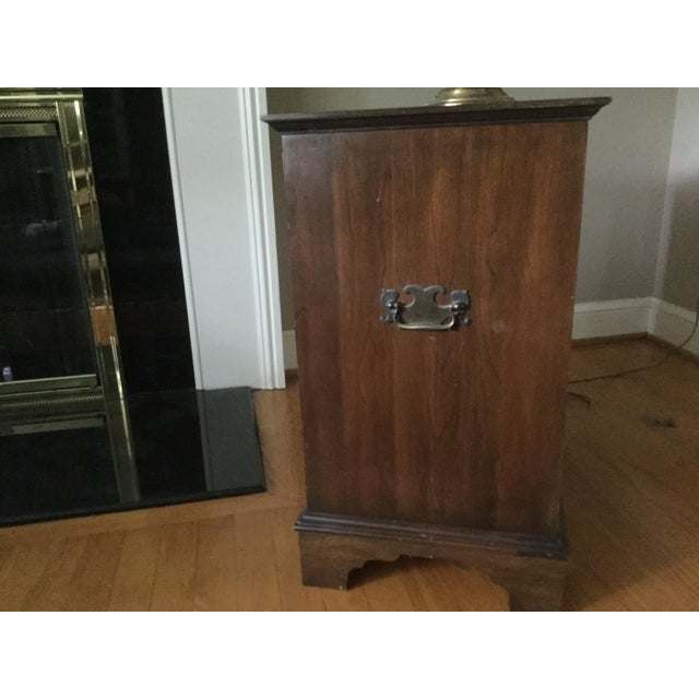 Bought 40+ years ago and now we are downsizing. This is a very versatile piece and can be used as an end table or...