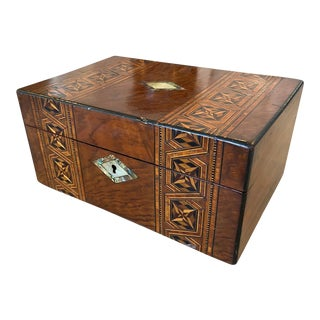 Antique English Box With Inlay For Sale