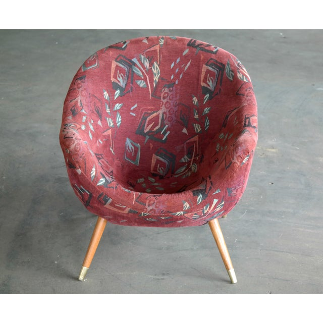1960's Italian Lounge Chair in the Style of Gio Ponti Ca. For Sale - Image 12 of 13