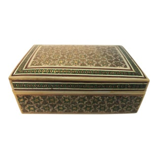 Anglo Indian Micro Mosaic Bone Inlaid Decorative Box For Sale