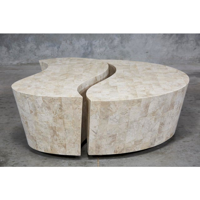 """1990s Contemporary Freeform Tessellated Stone Two Part """"Hampton"""" Coffee Table For Sale - Image 13 of 13"""