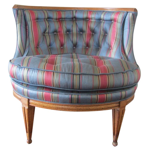 Mid-Century Modern Blue Tub Chair - Image 1 of 6