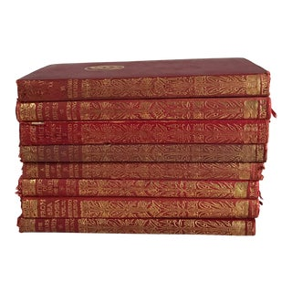 Antique Leather Bound Classic Books - Set of 8 For Sale