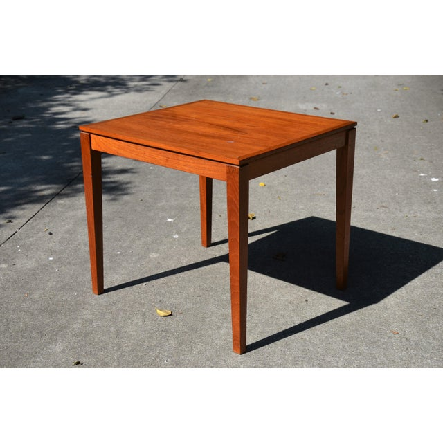 Brown 20th Century Danish Modern Bent Silberg Mobler Side Table For Sale - Image 8 of 8