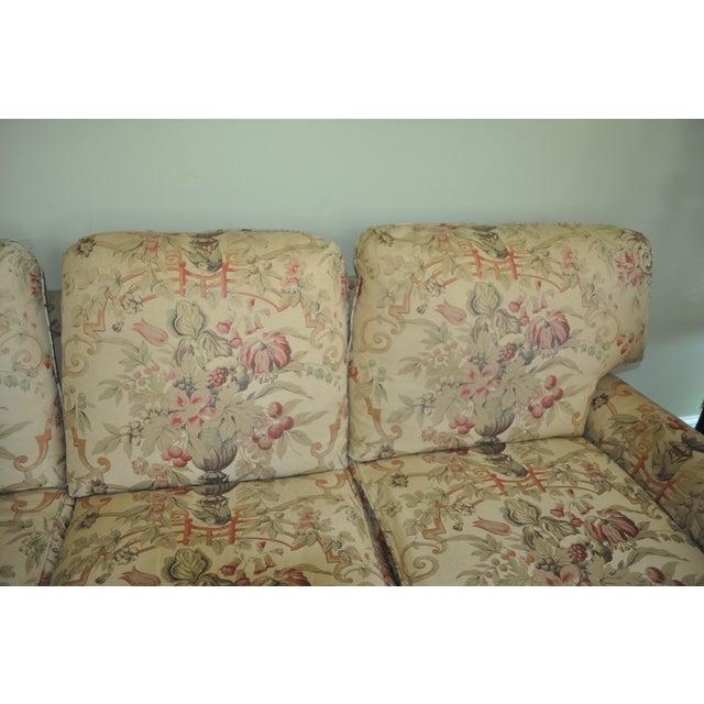 English George Smith Scroll Arm Signature Sofa For Sale - Image 3 of 7
