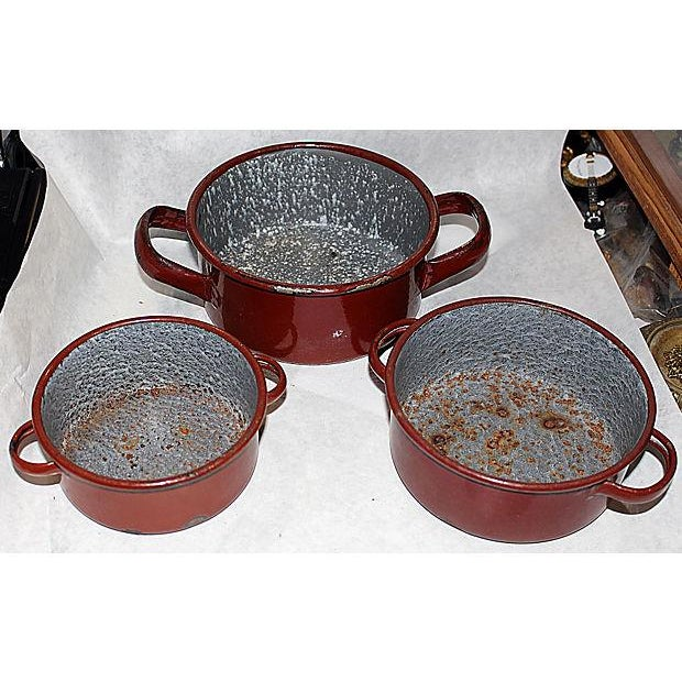 Austrian Enamelware Pots - Set of 3 - Image 4 of 5