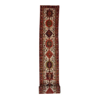 Vintage Persian Heriz Carpet Runner with Traditional Modern Style, Extra Long For Sale