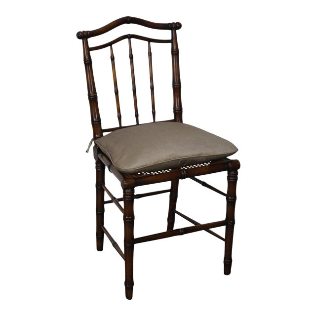 Faux Bamboo & Cane Side Chair - Image 1 of 11