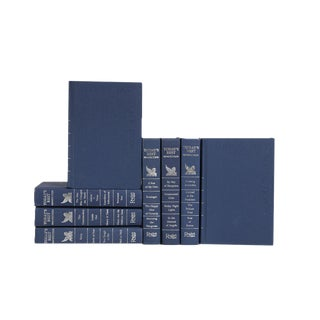 Today's Best Non-Fiction Book Collection in Blue & Silver - Set of 8 For Sale