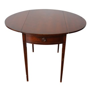 1970s Traditional Wood Table With Collapsing Sides For Sale