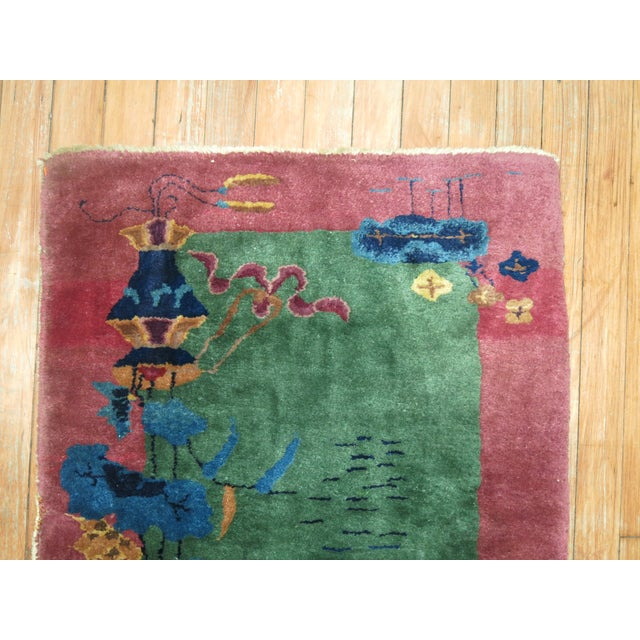 Chinese Art Deco Rug, 2'1'' x 3'10'' For Sale In New York - Image 6 of 8