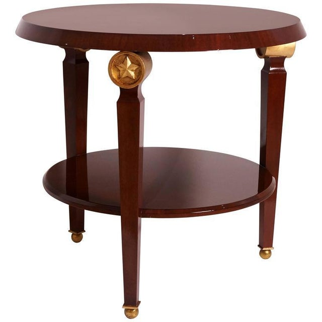 Mid-Century Maison Jansen Style Center Table Tiered Mahogany For Sale - Image 12 of 12