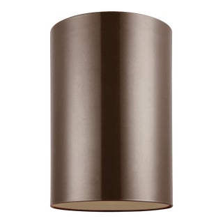 Christa Large One Light Outdoor Ceiling Flush Mount, Bronze For Sale