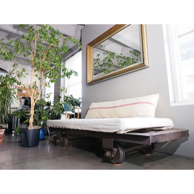 Industrial Late 20th Century Vintage Railroad Cart Daybed For Sale - Image 3 of 13