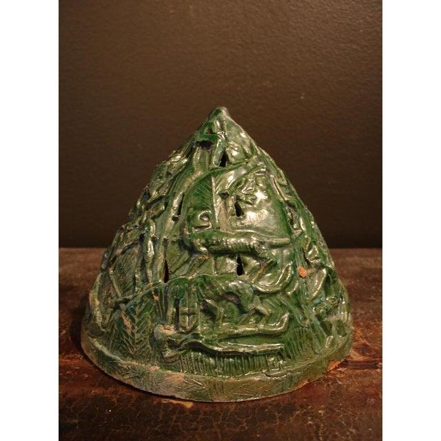 15th Century & Earlier A Han Dynasty Green Glazed Boshanlu Censer For Sale - Image 5 of 7