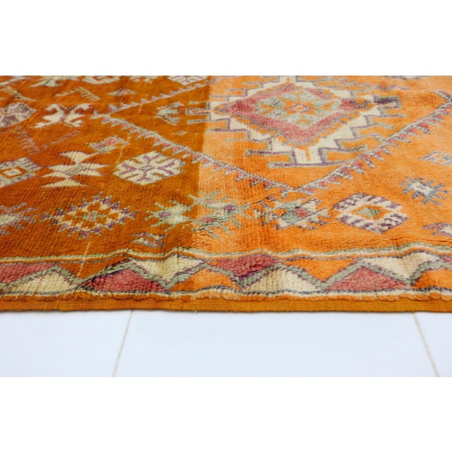 """Islamic Taznakht Vintage Moroccan Rug, 4'11"""" X 11'11"""" Feet For Sale - Image 3 of 6"""