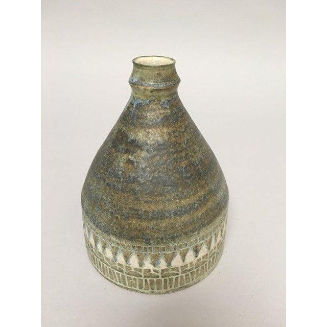 1960s 1960s Scandinavian Modern Hald Soon Studio Ceramic Bottle Vase For Sale - Image 5 of 9