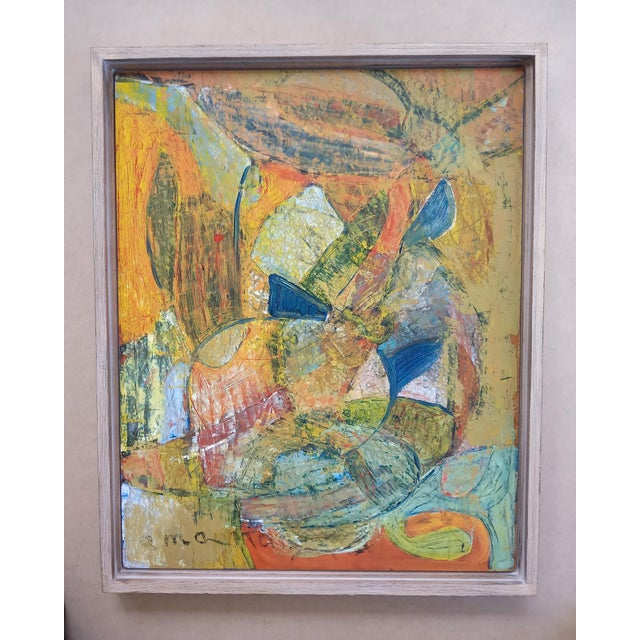 Paint 1960s Modernist Abstract Oil Painting, Framed For Sale - Image 7 of 7