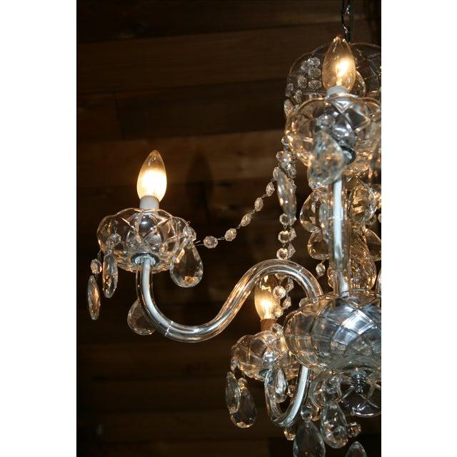 Vintage Glass Estate Chandelier - Image 3 of 5