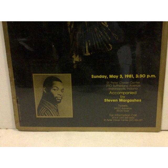 Vintage Bruce A. Hubbard Concert Poster For Sale - Image 4 of 4