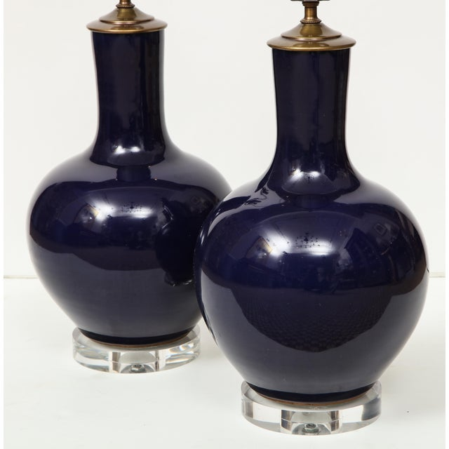 Chinese Vase Lamps - A Pair For Sale In New York - Image 6 of 9