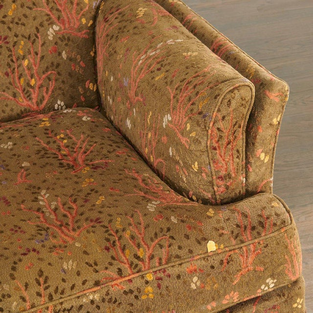French 1950s Maison Jansen Sofa With Original Jacquard Tapestry Upholstery For Sale - Image 3 of 7