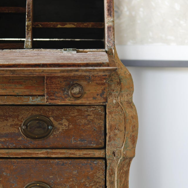 Dutch Rococo Painted Desk For Sale - Image 4 of 9