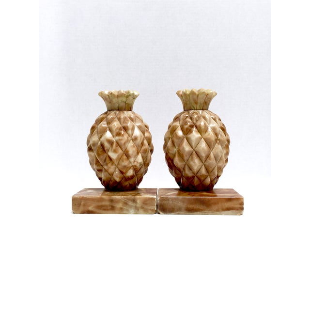 Onyx Stone Pineapple Bookends - Pair - Image 4 of 10