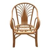 Image of Vintage Mid Century Rattan Bentwood Chair For Sale
